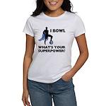 Bowling Superhero Women's T-Shirt