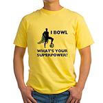 Bowling Superhero Yellow T-Shirt