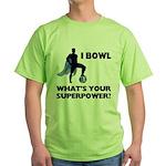 Bowling Superhero Green T-Shirt
