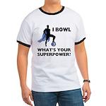 Bowling Superhero Ringer T