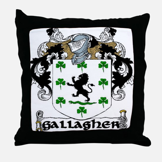 Gallagher Coat of Arms Throw Pillow