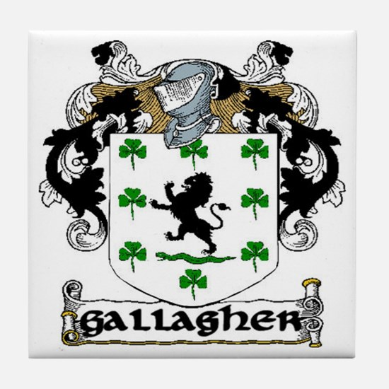 Gallagher Coat of Arms Ceramic Tile