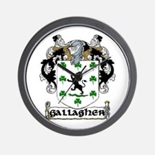 Gallagher Coat of Arms Wall Clock
