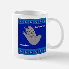 Happy New Year Peace Dove Mugs