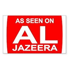 As seen on Al Jazeera Rectangle Decal