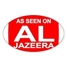 As seen on Al Jazeera Oval Decal