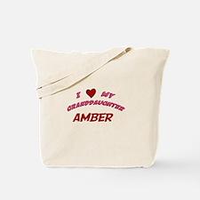 I Love My Granddaughter Amber Tote Bag