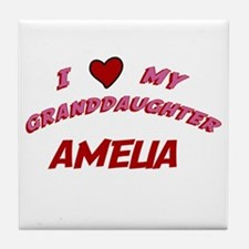 I Love My Granddaughter Ameli Tile Coaster