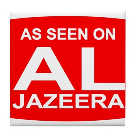 As seen on Al Jazeera Tile Coaster