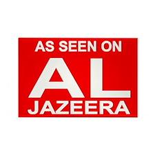 As seen on Al Jazeera Rectangle Magnet