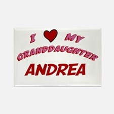 I Love My Granddaughter Andre Rectangle Magnet
