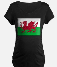 Welsh Flag of Wales Maternity T-Shirt
