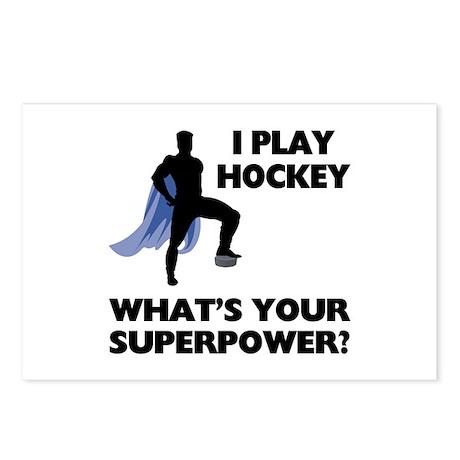 Hockey Superhero Postcards (Package of 8)