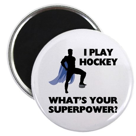 Hockey Superhero Magnet