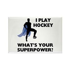 Hockey Superhero Rectangle Magnet