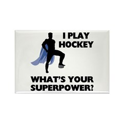 Hockey Superpower Rectangle Magnet