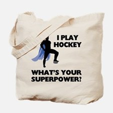 Hockey Superhero Tote Bag
