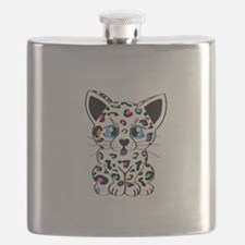 Rainbow Leopard Cub Flask
