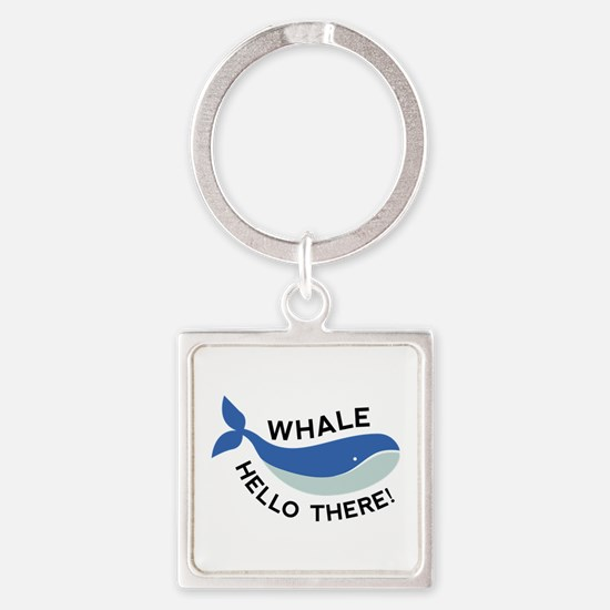 Whale Hello There! Square Keychain