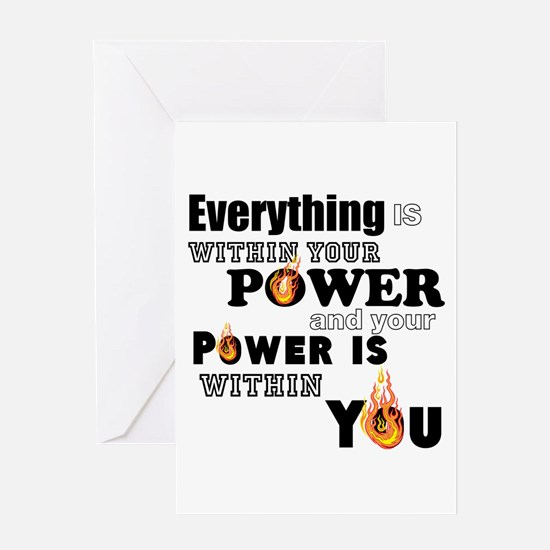You are POWERFUL Greeting Cards