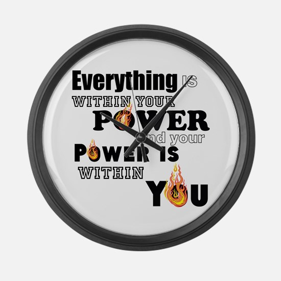 You are POWERFUL Large Wall Clock