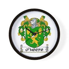 O'Keefe Coat of Arms Wall Clock