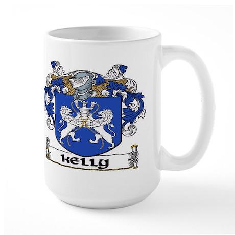 Kelly Coat of Arms Large Mug