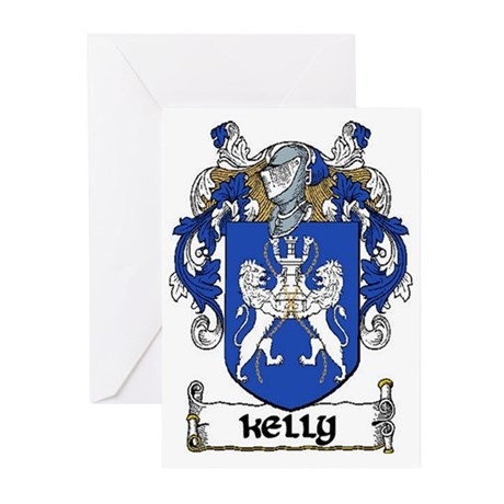 Kelly Coat of Arms Note Cards (Pk of 10)