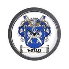 Kelly Coat of Arms Wall Clock
