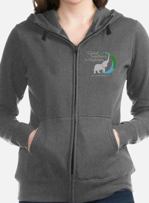 Dark Logo On Front, Website Women's Zip Hoodie