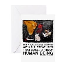 Animal Liberation -Schweizer Greeting Card