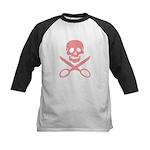 Pink Jolly Cropper Kids Baseball Jersey