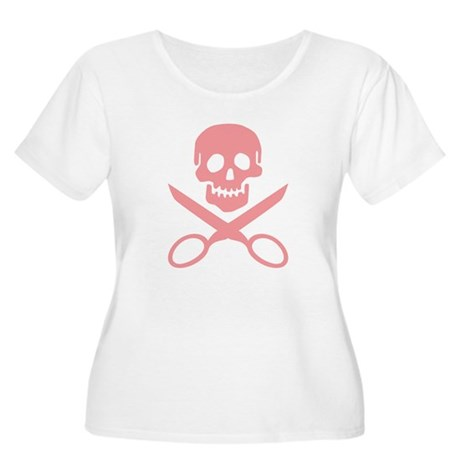 Pink Jolly Cropper Women's Plus Size Scoop Neck T-