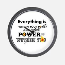 You are POWERFUL Wall Clock