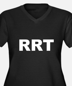 RRT Women's Plus Size V-Neck Dark T-Shirt