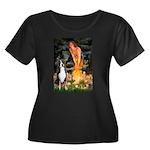 Fairies / GSMD Women's Plus Size Scoop Neck Dark T