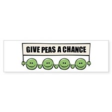 Give Peas A Chance Bumper Bumper Sticker