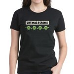 Give Peas A Chance Women's Dark T-Shirt