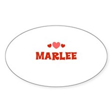 Marlee Oval Decal