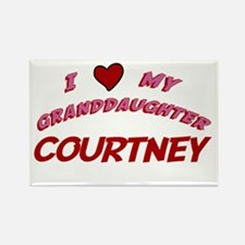 I Love My Granddaughter Court Rectangle Magnet