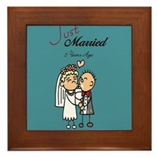 Cute Bride groom Framed Tile