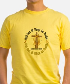 With God Cross CHILD CANCER T-Shirt