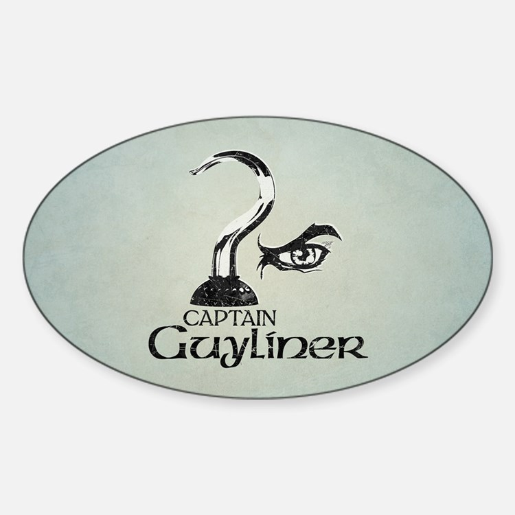 Captain Guyliner Sticker (Oval)
