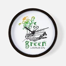 Green In Gotham Wall Clock