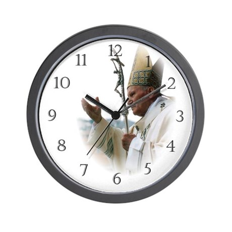 Pope John Paul II Wall Clock