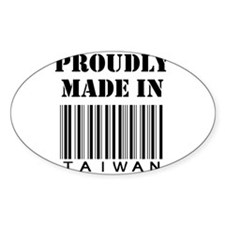 made in Taiwan Oval Decal