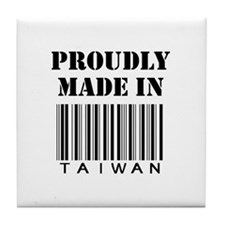 made in Taiwan Tile Coaster