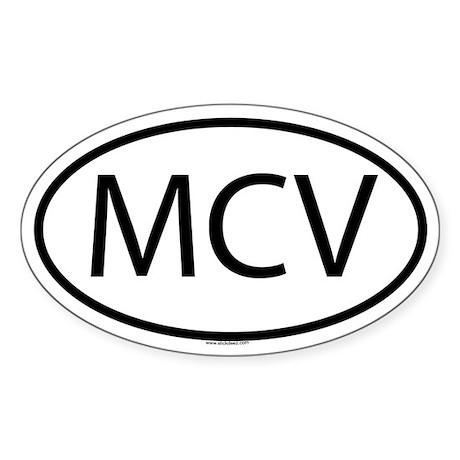 MCV Oval Sticker