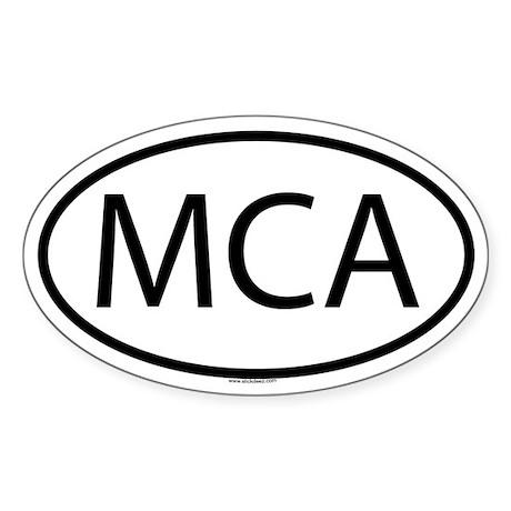 MCA Oval Sticker