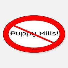 No Puppy Mills Sticker #1 (Oval)